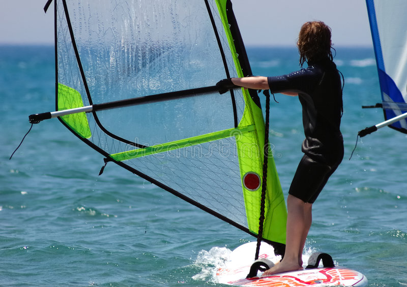 Windsurfer de gosse photos stock