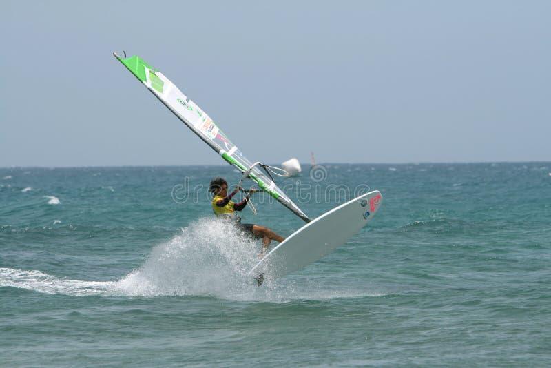 windsurfer de ruano de pwa de Moreno d'iballa de concurrence images libres de droits