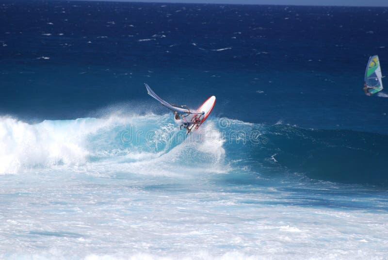 Windsurfer estremo fotografie stock libere da diritti