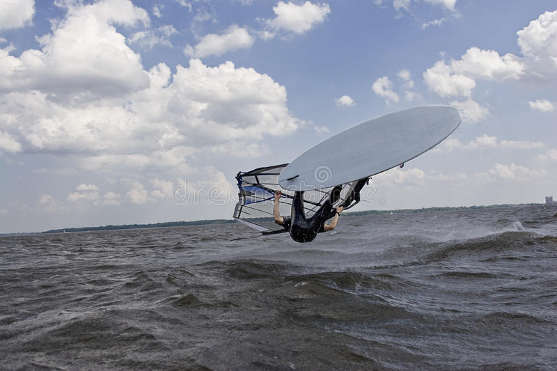 Download Windsurfer flipping stock image. Image of cloudy, marine - 10753051