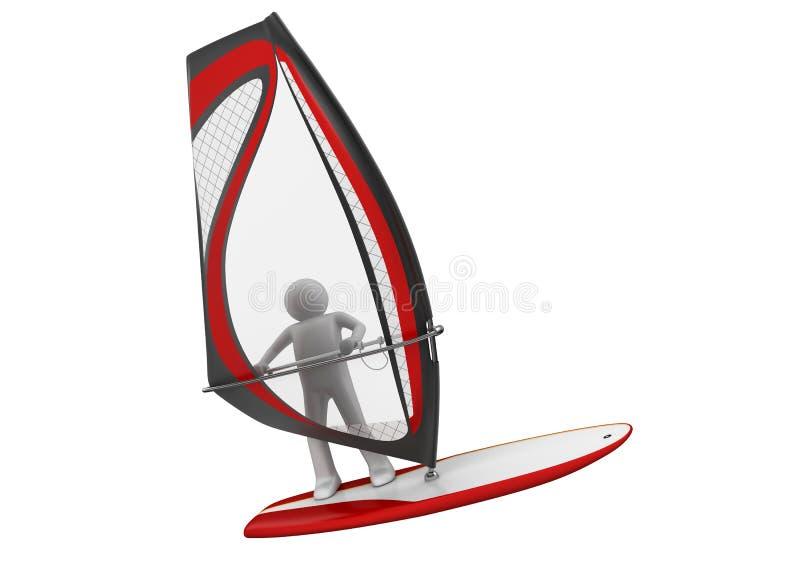 Windsurfer - sports illustration libre de droits