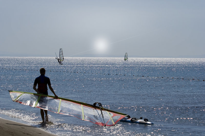 Download Windsurfer and SUN stock image. Image of surfer, sail - 7210871