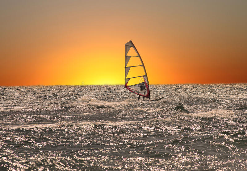 Download Windsurfer at sunset stock photo. Image of cool, sport - 29632334