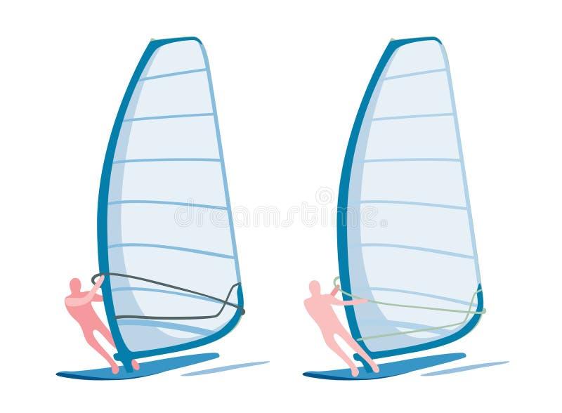 Windsurfers ilustracji