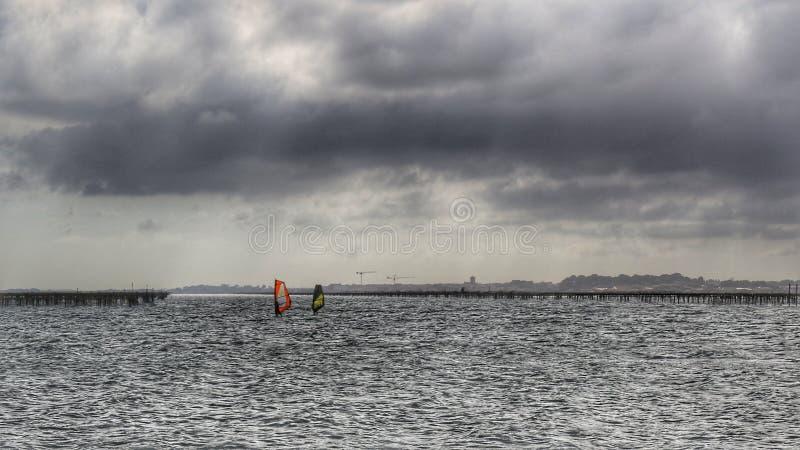 windsurfers photo stock