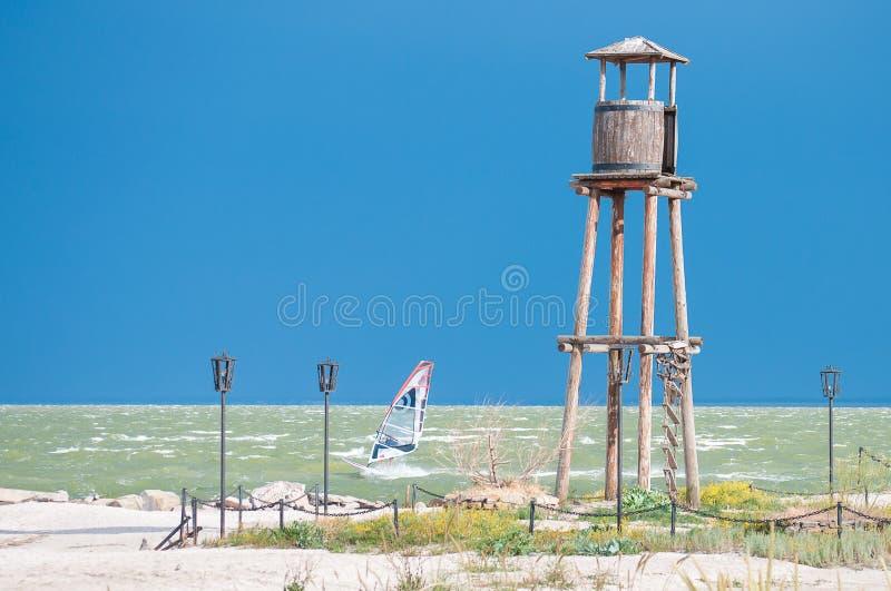 Windsurfing σε Yeisk, Ρωσία στοκ φωτογραφίες με δικαίωμα ελεύθερης χρήσης