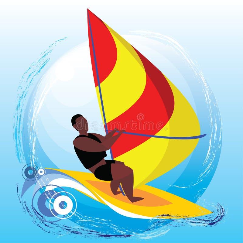 windsurfing illustration de vecteur
