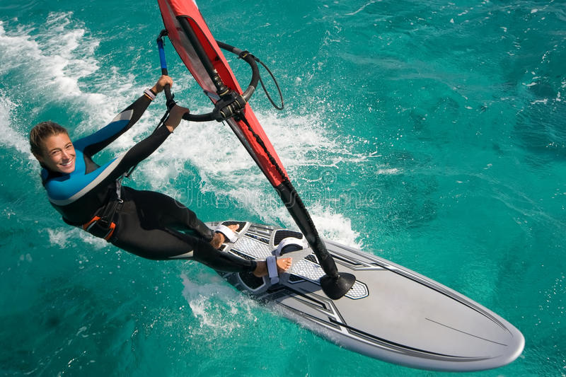 Windsurfing. Daydream to which strive many stock image