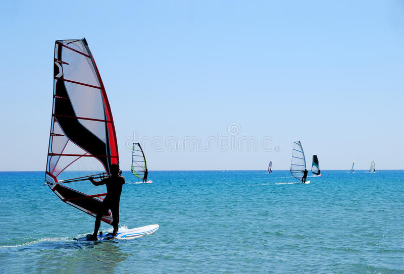 windsurfing стоковая фотография
