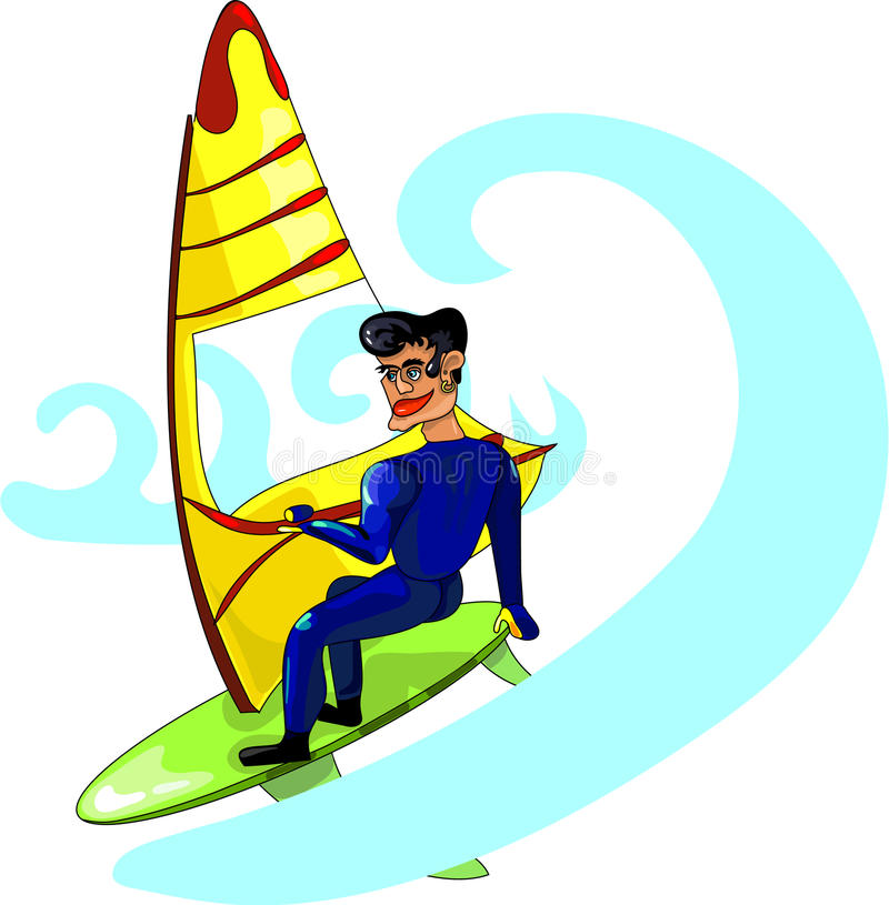 Windsurfing lizenzfreie abbildung