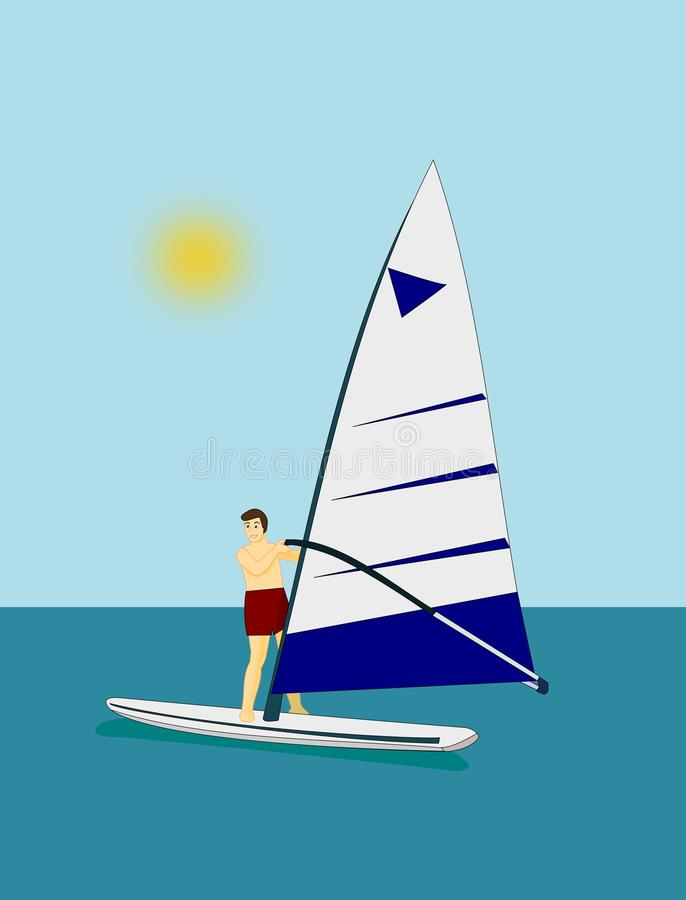 Windsurfing ilustracji