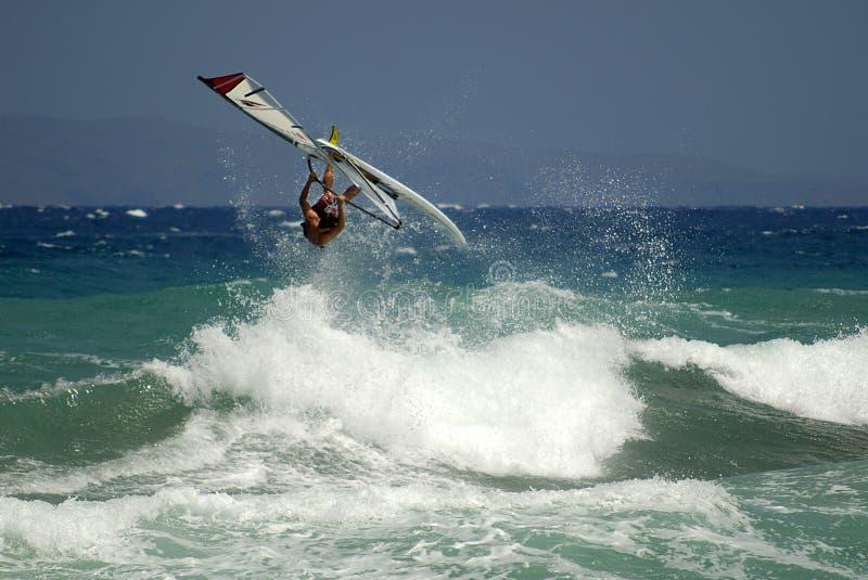 Windsurfing royalty free stock photo