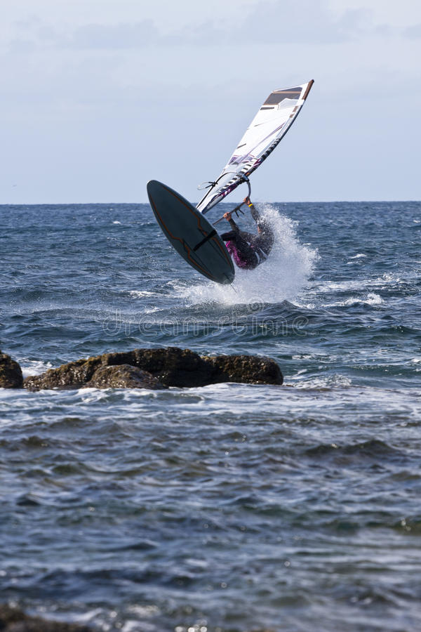 Windsurfing stockbilder