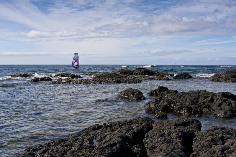 Windsurfing lizenzfreies stockfoto
