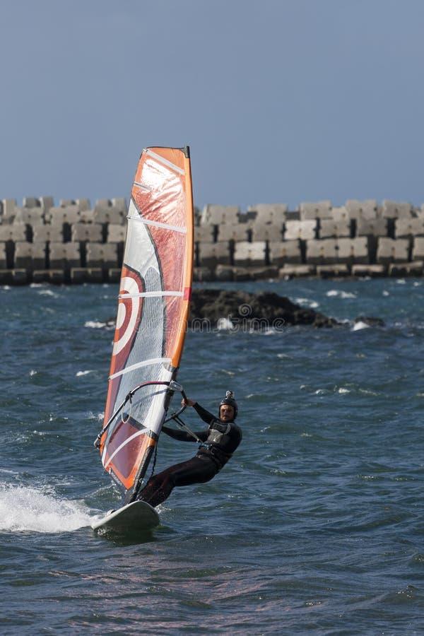 Windsurfing stockfotos