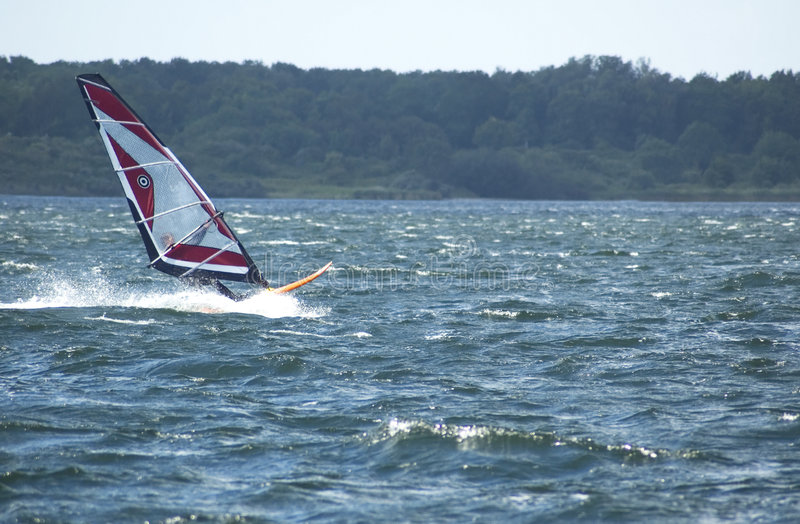 Windsurfing photo libre de droits