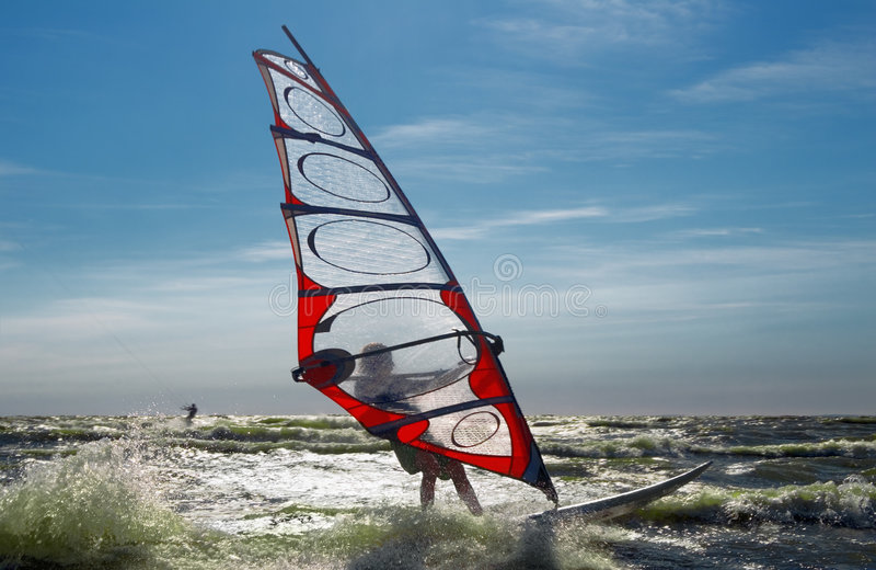 Windsurfing-3 royalty-vrije stock foto's