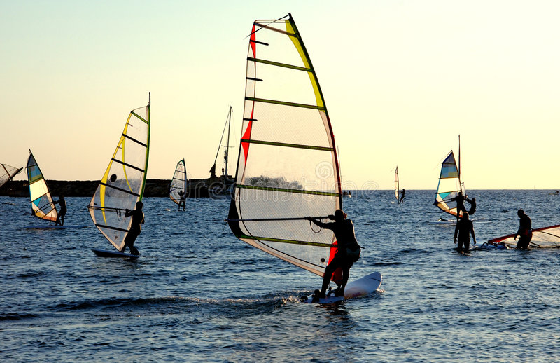 Windsurfing royalty-vrije stock foto