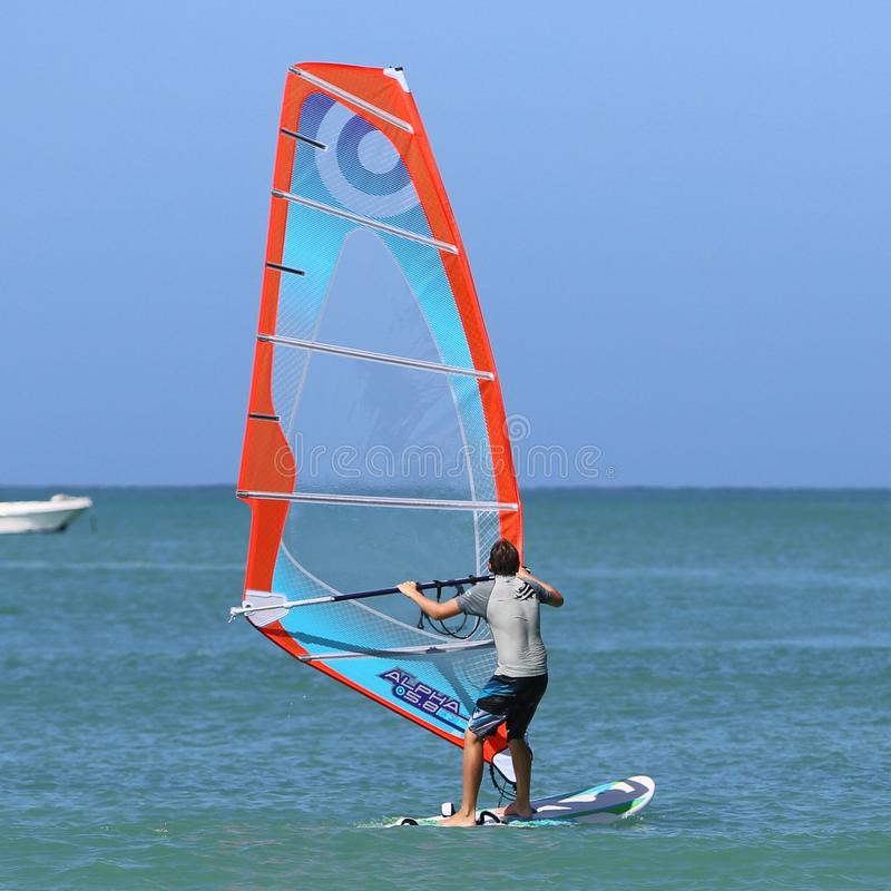 windsurfing fotografie stock