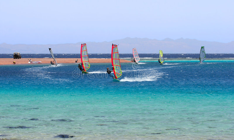 Windsurfing. stock photo