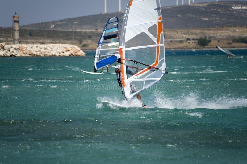 Windsurfing in Alacati royalty-vrije stock fotografie