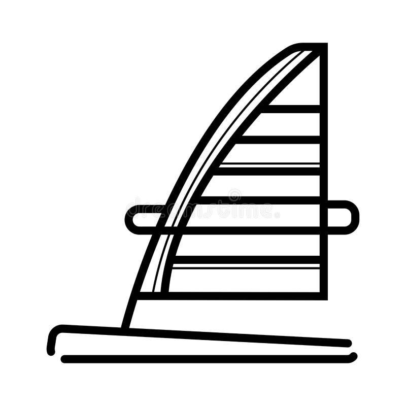 Windsurfing deskowa ikona royalty ilustracja
