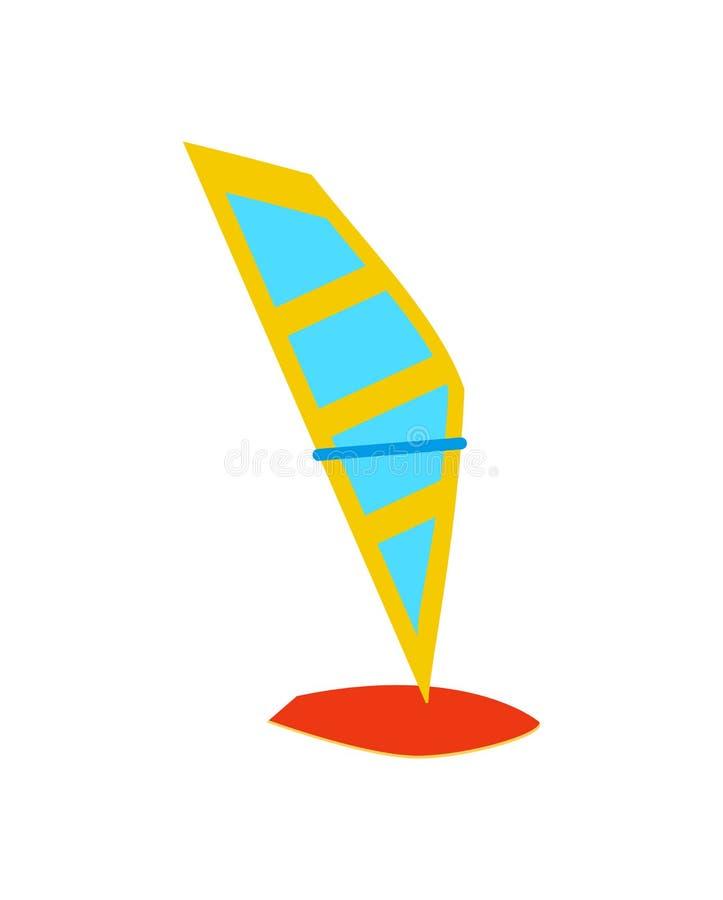 Windsurfing Deskowy szablon, Kolorowy ikona plakat royalty ilustracja