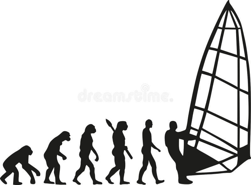 Windsurfing evolution vector illustration