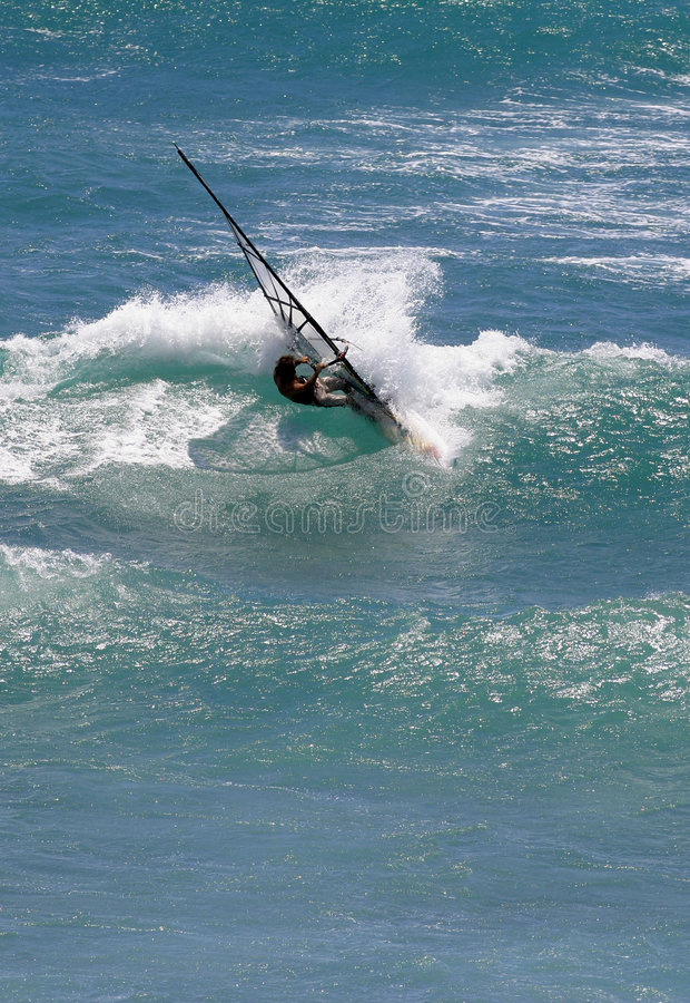 Windsurfing in Hawaï stock afbeeldingen