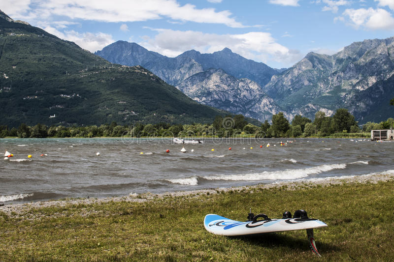 Download Windsurfing On The Lake Royalty Free Stock Photo - Image: 25987435