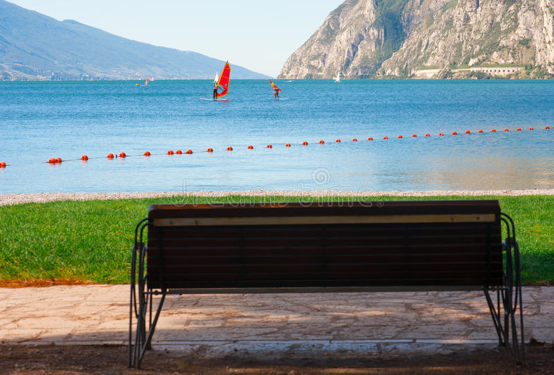 Windsurfing school royalty free stock image