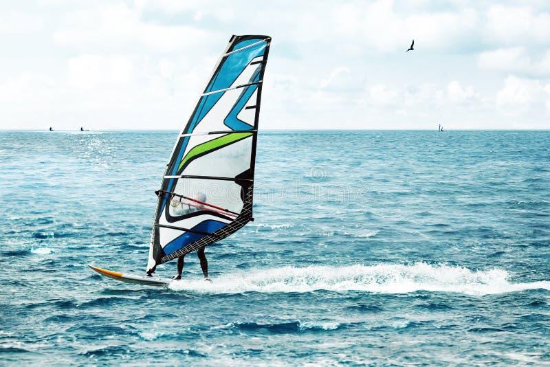 Windsurfing, sport ekstremalny zdjęcia royalty free