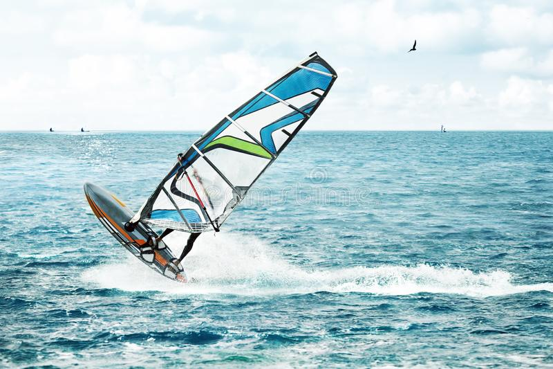 Windsurfing, sport ekstremalny obraz royalty free