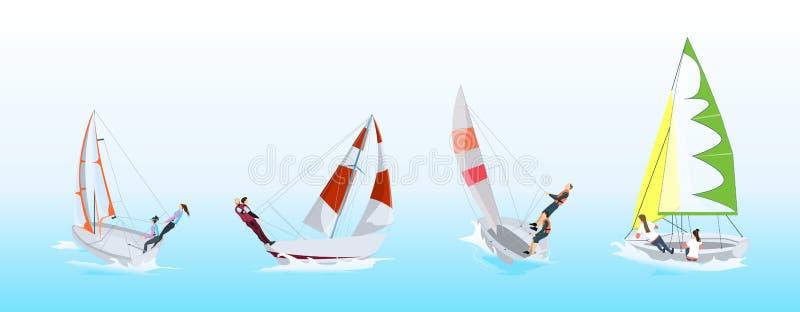 Windsurfing sporta set ilustracja wektor