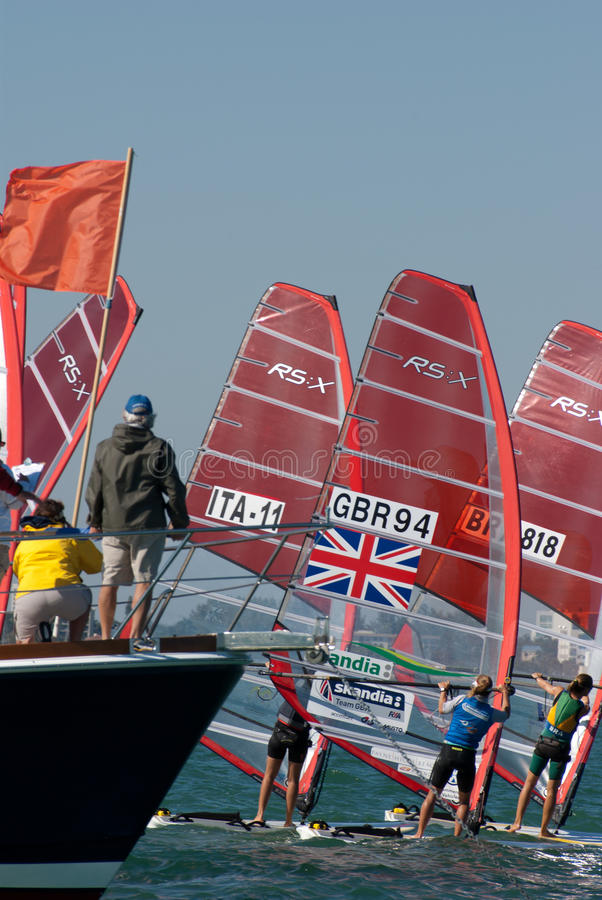 Download Windsurfing Start From The Committee Boat Editorial Photography - Image: 18265047