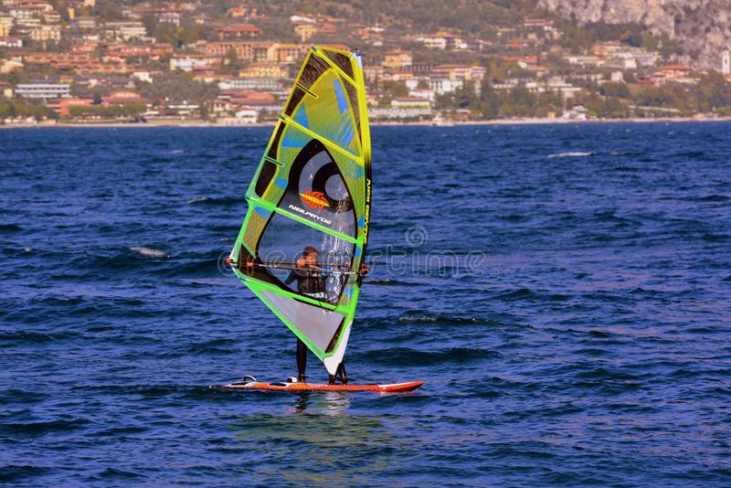 Windsurfing, Wind, Water, Surfing Equipment And Supplies stock images