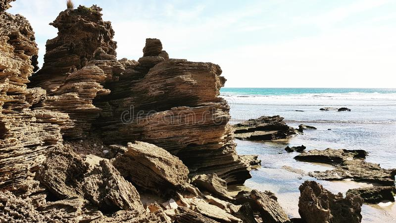 Windswept Rocks royalty free stock photography