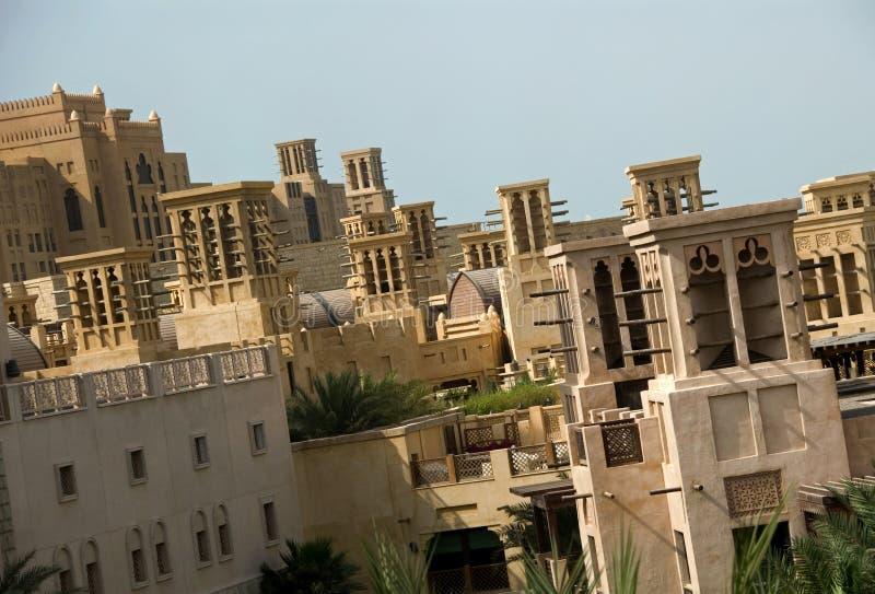 Windtowers au Mina Salam images stock