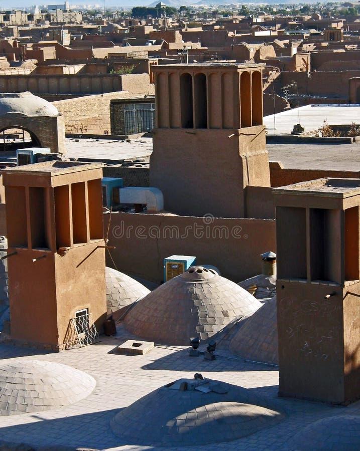 Windtowers, Yazd immagini stock libere da diritti