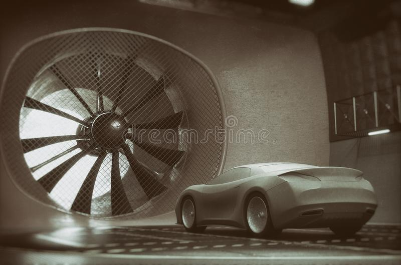 Windtunnel Clay Car Concept Design vector illustratie