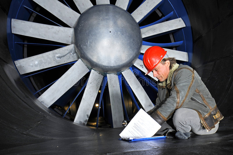 windtunnel inżyniera zdjęcie royalty free