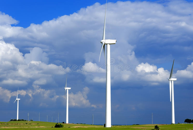 Windturbine stockbilder
