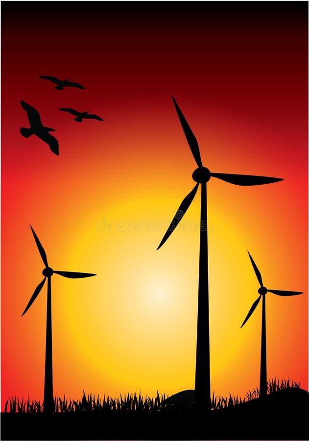 Windturbine vektor abbildung