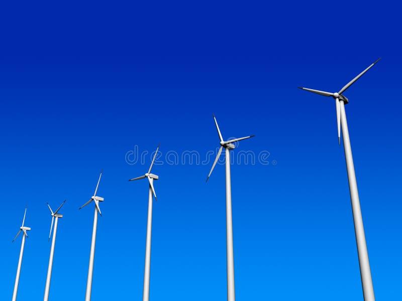 Windturbine stock abbildung