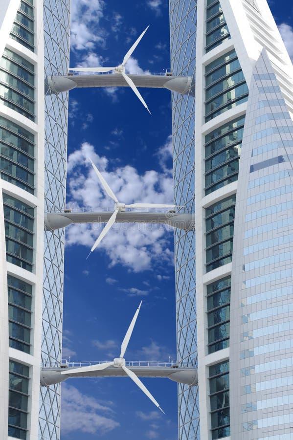 Windturbine, eine erneuerbare Energiequelle lizenzfreie stockbilder
