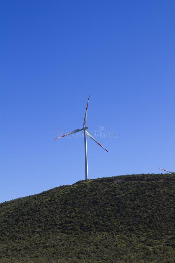 Windturbine na região de Atacama foto de stock royalty free