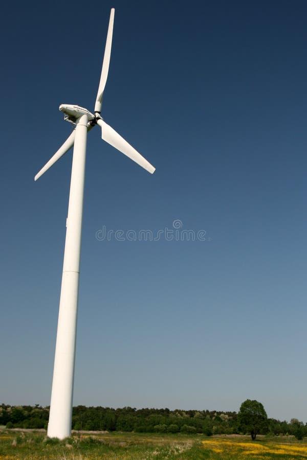 Windturbine op het gebied royalty-vrije stock afbeelding