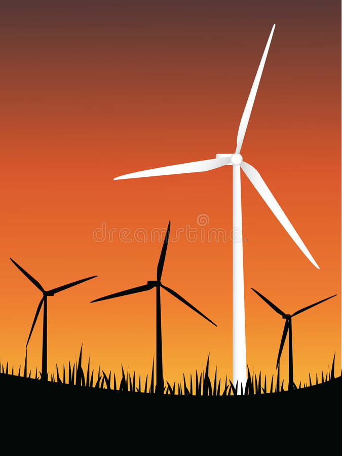 Windturbineenergie lizenzfreie abbildung