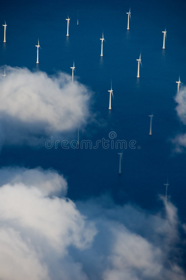 Windturbines fotografia de stock royalty free