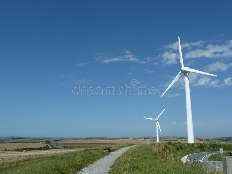 Windturbines dans Fance photos stock